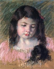 Bust of Francoise Looking Down - Mary Cassatt