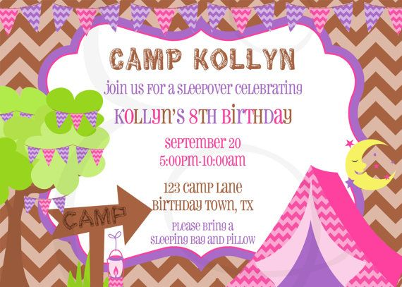 Glamping Birthday Party Invitation by EmmyJosParties on Etsy, $12.00