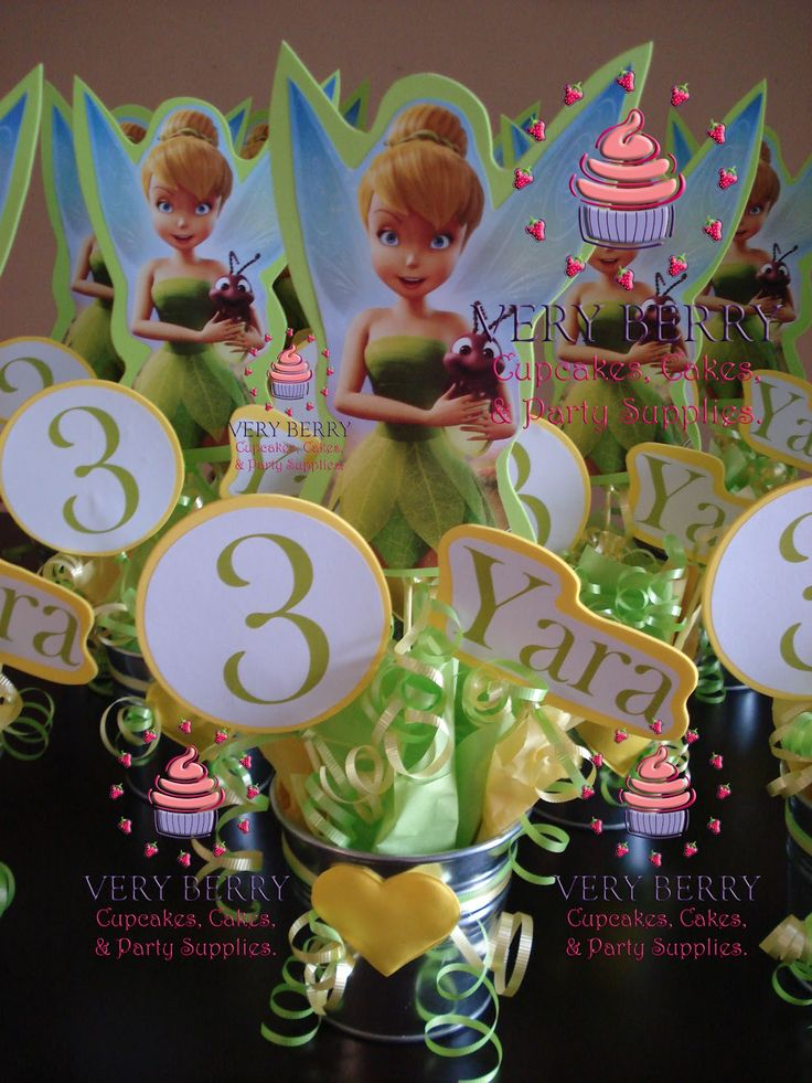 Pictures Veryberry Cupcakes Tinkerbell Fomi Centerpieces 18 | HD