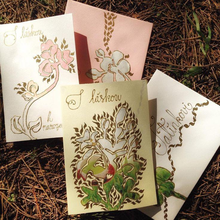 #birthdaycards #handmade #teapaper #springtheme #art Další várka narozenin si žádá novou várku přání!🖋🎊🎉🌸🎨#klubkotvori