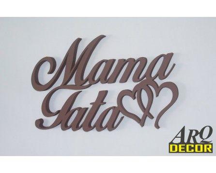 Napis Mama Tata + Serduszka - Dekoracje Wnętrz - Ścienne 3d - ARQ - DECOR | Pracowania Dekoracji ARQ DECOR