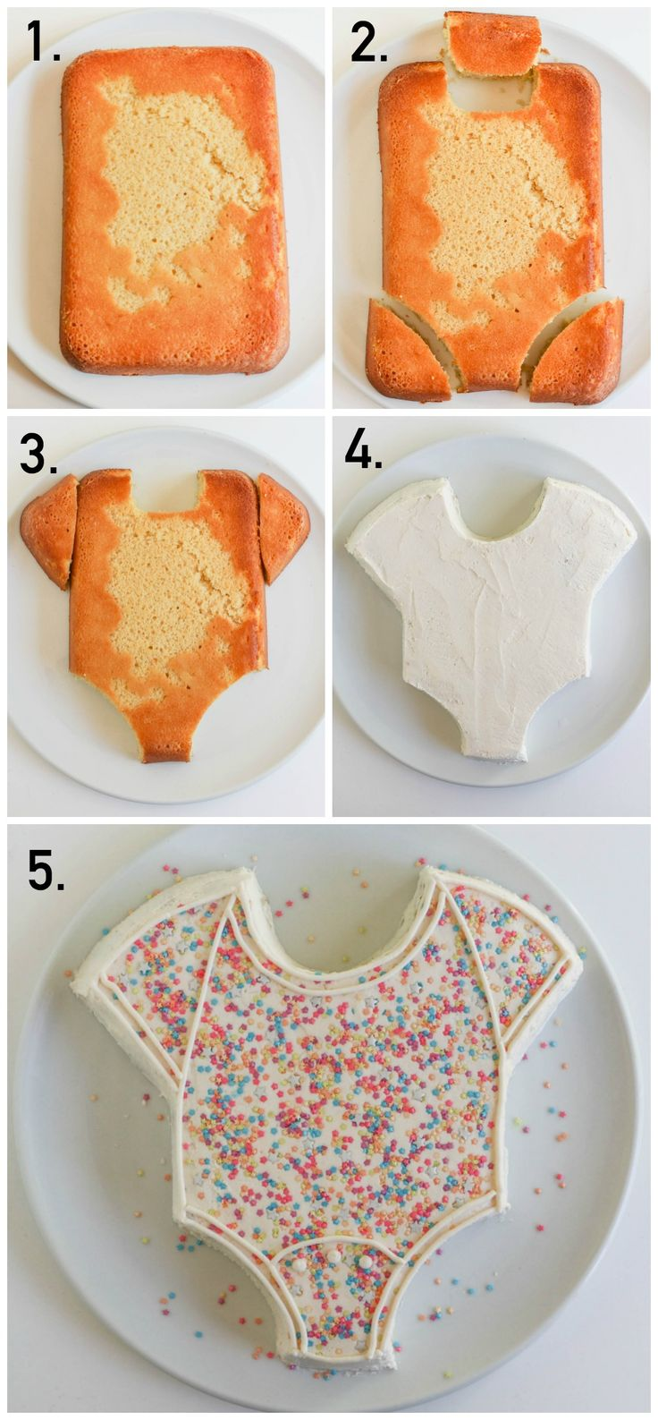 Easy Onesie Cake perfect for a baby shower! Such an easy cake decorating idea.