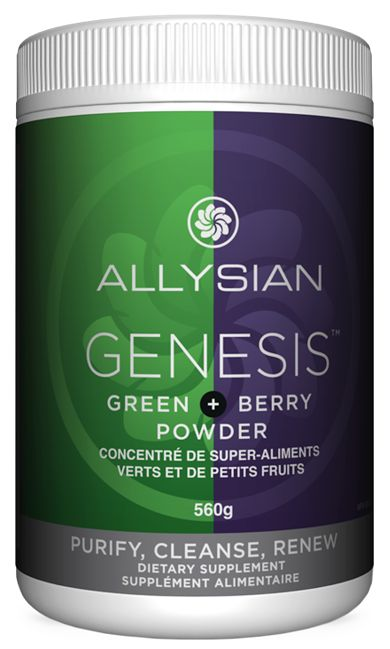 Key factor to your next deep cleanse. Able to cleanse toxins from cells while stabilizing hormones and providing dense nutrients to restore the body from any depletion. The humifulvate from Hungary within this 74 organic botanical ingredients makes this super berry green drink like no other. GENESIS - Allysian Sciences - REDEFINE POSSIBLE.™