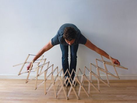 Star-shaped clothes horse by Aaron Dunkerton