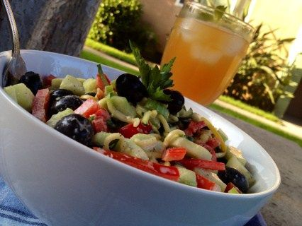 """Pasta Salad is always a favorite any time of the year. Here's a healthier option using veggies instead of pasta in this SpiraLife """"Anti"""" Pasta Salad. Click here for details: http://lifestyledynamics.com/spiralife-anti-pasta-salad/ #lifestyledynamics #pasta #salad #healthyrecipe"""