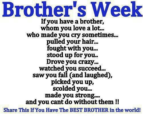 Happy Sister And Brothers Day: 17 Best Images About BROTHER On Pinterest