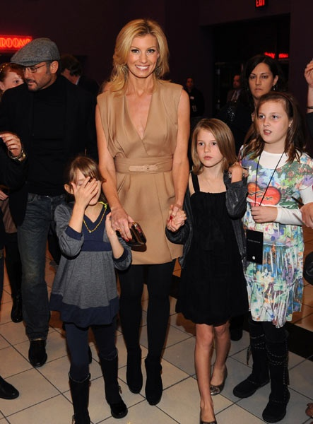 Faith Hill & Tim McGraw - have three daughters  Gracie, Maggie and Audrey