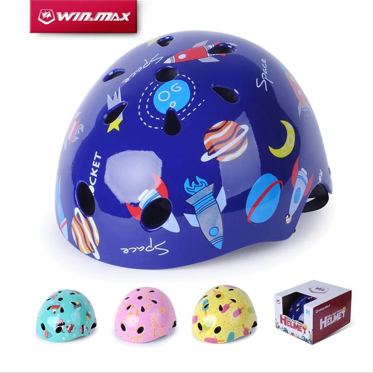 [Visit to Buy] 2017 Winmax Cycling Skate Skateboard Capacete Ciclism Adjustable Bike Bicycle Skate Protection Chrildren ABS Helmet  for Kid #Advertisement