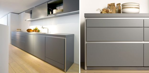 Bulthaup b1 in lack steingrau kitchen pinterest nice for Bulthaup kitchen cabinets