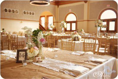 Decoraciones para bodas con tela de yute o arpillera - Decoraciones para bodas sencillas ...