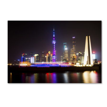Trademark Fine Art 'Shanghai City' Canvas Art by Philippe Hugonnard