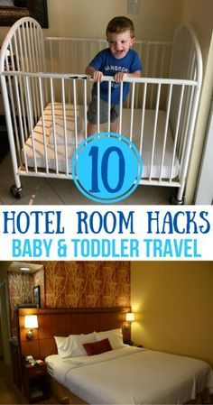 Staying in a hotel with a baby or toddler and missing a few crucial supplies? Here's how to hack your hotel stay with these tricks.
