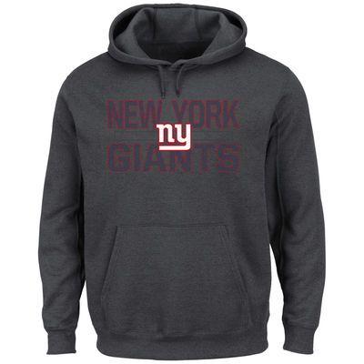 Men's New York Giants Majestic Charcoal Kick Return Pullover  Hoodie maat XL