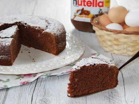 Torta alla Nutella semplice e soffice | RicetteDalMondo