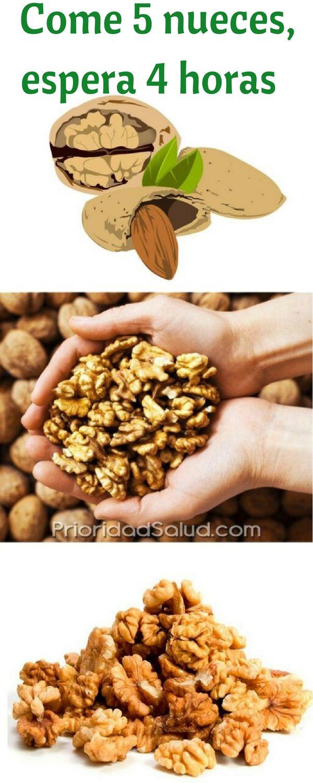 Come 5 nueces todos los días te protege contra la diabetes, las enfermedades cardiovasculares, el Alzheimer, el cáncer de mama. Haz clic para descubrir los beneficios y las maravillas de este fruto seco.