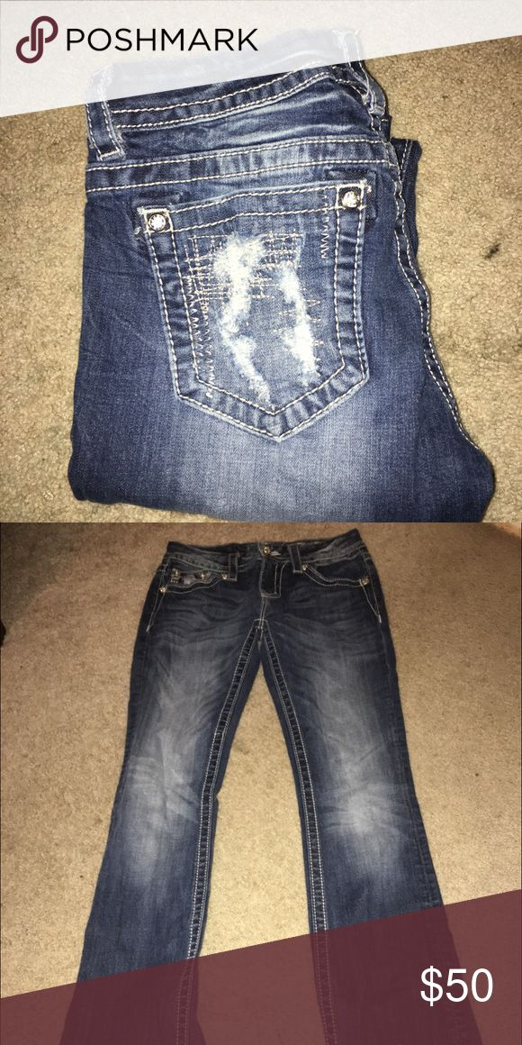 Miss mes. In great condition! They are bootcut! Perfect length. Miss Me Pants Boot Cut & Flare