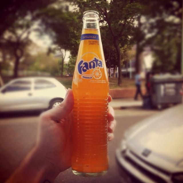 Fanta Argentina Glass bottle.