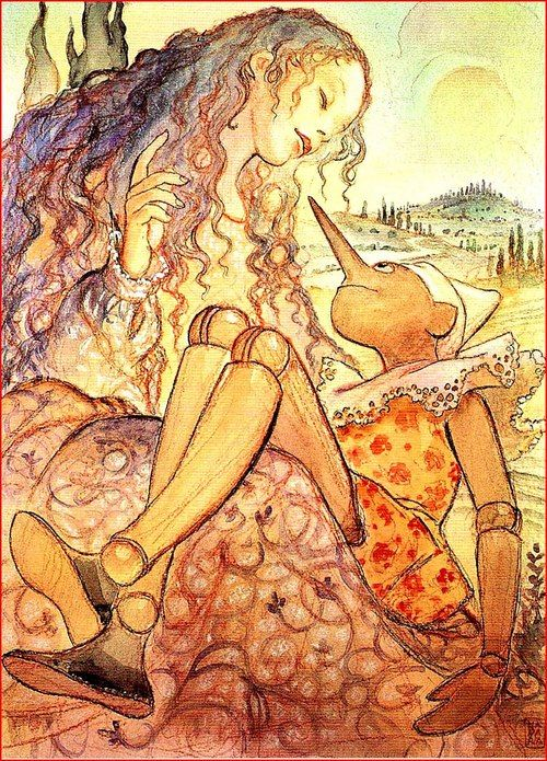 Pinocchio illustrated by Milo Manara