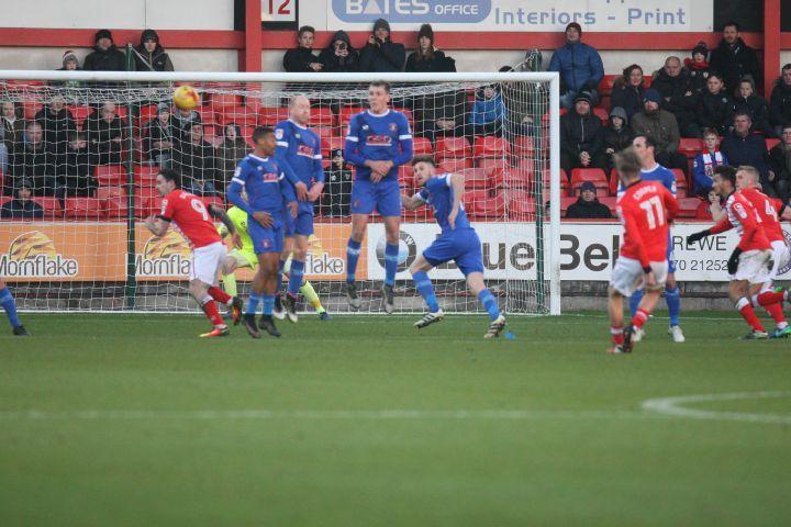 George Cooper scores Crewes Equaliser 1 - 1