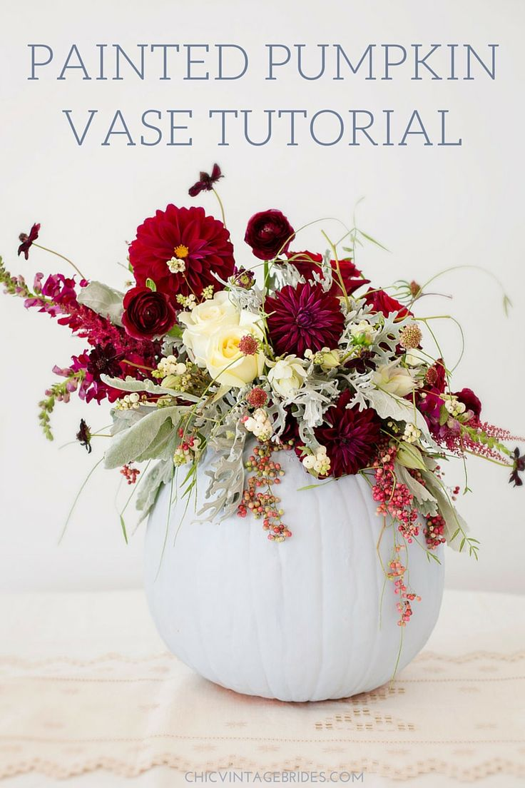DIY Painted Pumpkins for the Perfect Fall Wedding Centrepieces