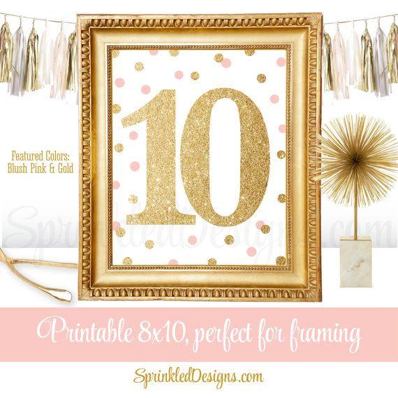 10th Birthday Party  Tenth Birthday  Number Ten by SprinkledDesign