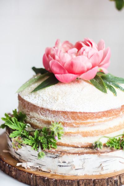 Naked peony cake: http://www.stylemepretty.com/living/2015/06/13/effortless-entertaining-a-peony-topped-cake/   Photography: The Blondielocks - http://www.theblondielocks.com/