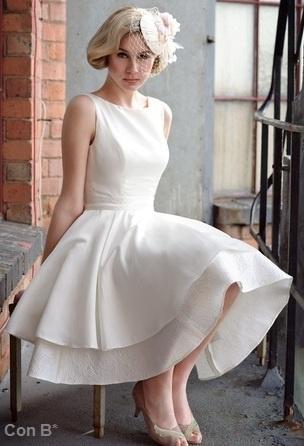 Vestido de #novia vintage tea-length / Vintage #bridal tea-length dress