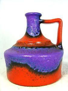 Beautiful-glazed-70-s-design-Duemler-amp-Breiden-Keramik-pottery-vase-12-5-cm