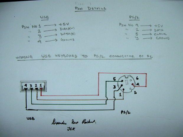 Usb To Ps 2 Convertor Keyboard, Computer Keyboard Wiring Diagram