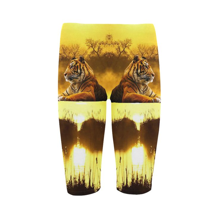 Tiger and Sunset Cropped Leggings. FREE Shipping. FREE Returns.