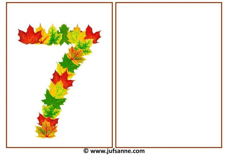Deze download bevat de cijfers 0 t/m 20 in herfstbladeren met een leeg vak ernaast om zelf de hoeveelheid in te leggen. Deze kaarten kunnen ook als kleikaarten worden gebruikt.