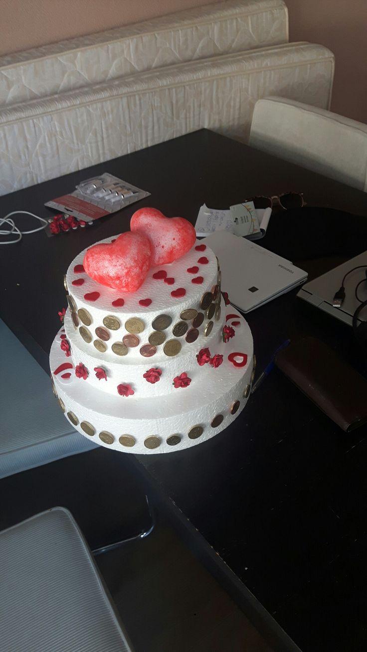 #taart #piepschuim #trouwen #cadeau