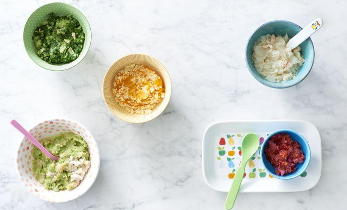 10 maaltijden ideeën voor je baby, in alle kleuren van de groentetuin. En een potje makkelijk om klaar te maken en in te vriezen bovendien.