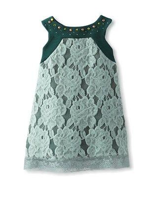 55% OFF Monnalisa Girl's Lace Mini Dress (Jade)