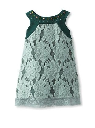 55% OFF Monnalisa Girl's Lace Mini Dress (Jade)