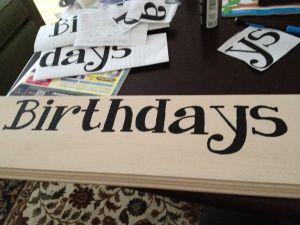 DIY Birthday Board - Step-by-Step Tutorial!!!