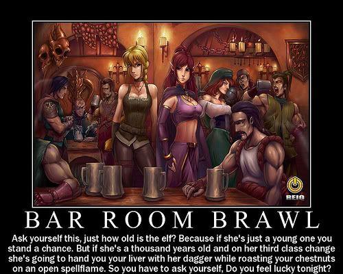Bar Room Brawl Dungeons And Dragons Pinterest Bar