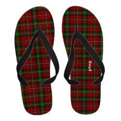 Colorful Boyd Clan Tartan Plaid Flip Flops