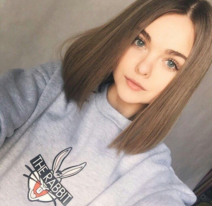 Maria Kaah adlı kullanıcının girls tumblr panosundaki Pin | Düz saç, Künt küt saç kesimi, Kıvırcık saç