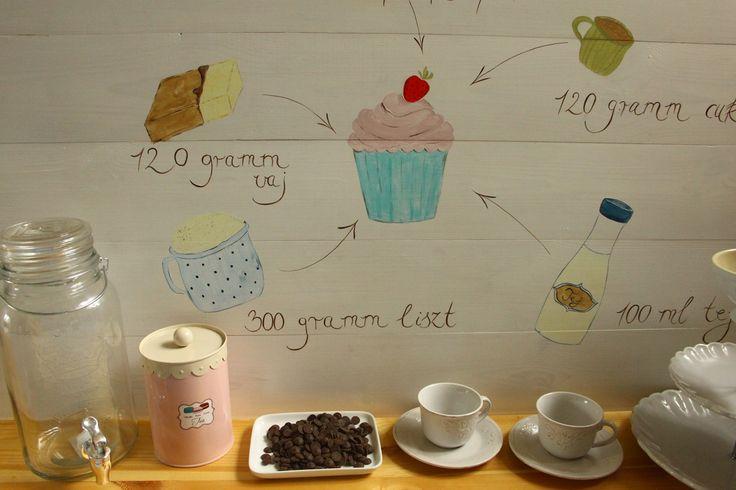 Dekorációként szolgálhat egy cukrászdában, egy étteremben, de akár egy konyhában is : ))) - decor - haind-painted