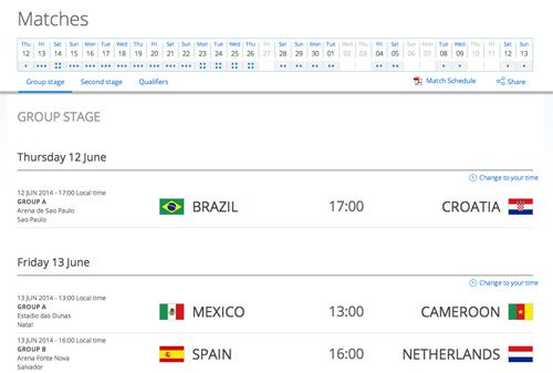 How To Convert World Cup Match Schedule To Your Time Zone [Quicktip]