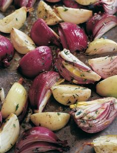 Herb Roasted Onions - probably goes well with roasted chicken or beef dish.