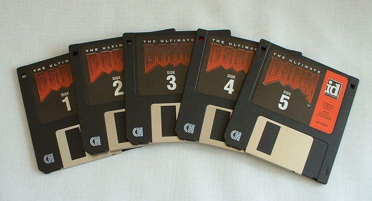 Ultimate Doom PC Game 1995 Big Box 3 5 Floppies Poster 742725103337   eBay