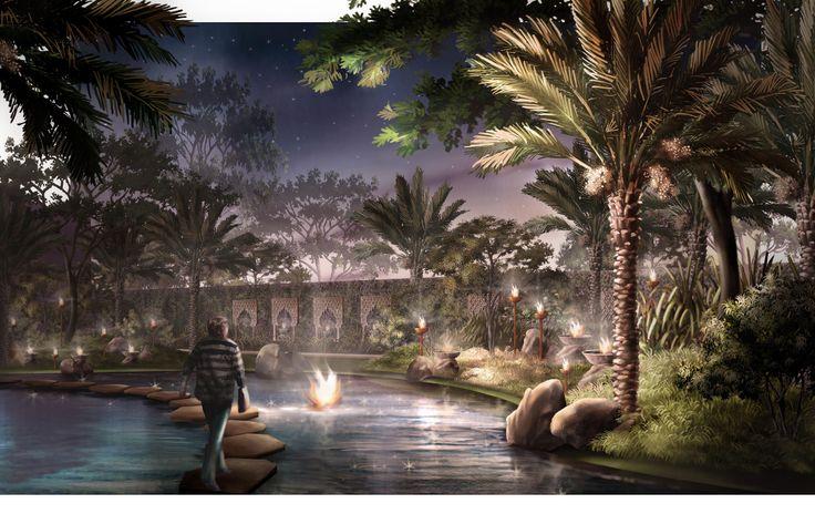 Landscape Illustration | Jeddah | 2009 Design by Tropland Studio
