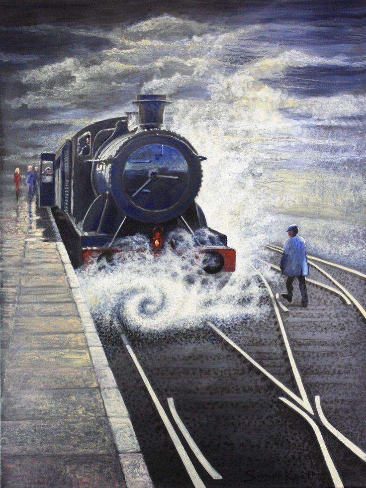 Steam #train artist Simon Knott buy art @ simbird.com Art Gallery