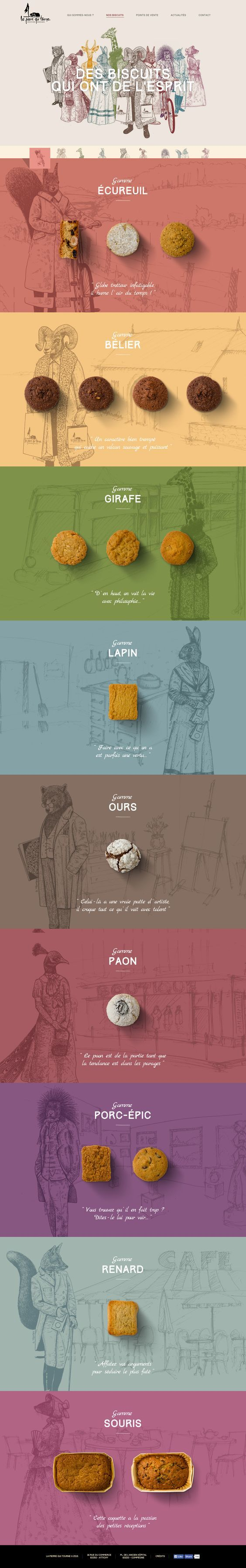 La Pierre Qui Tourne. French cookies. (More design inspiration www.aldenchong.com):