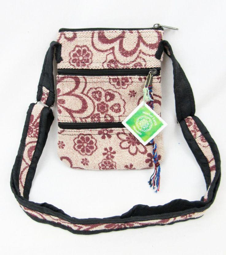 Hippe flower passport purse