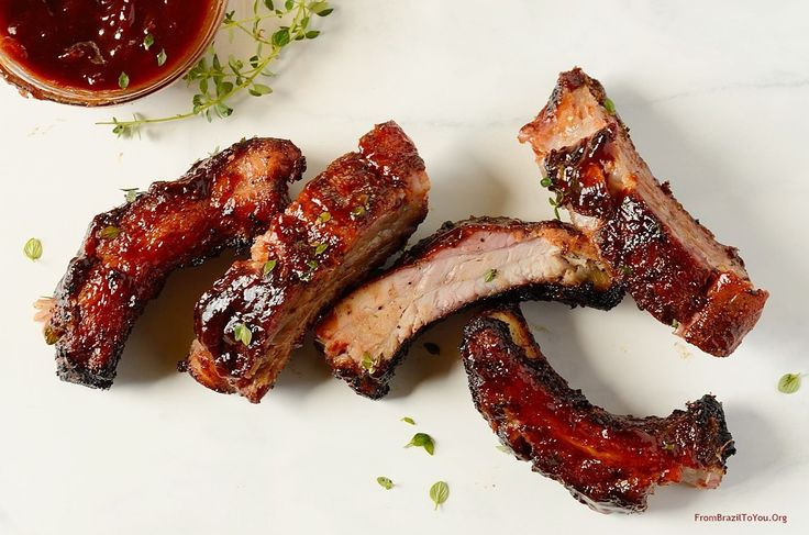 Finger-licking Red Wine Barbecue Pork Ribs rubbed with brown sugar and a blend of spices, grilled until tender, and basted with a red wine barbecue sauce.