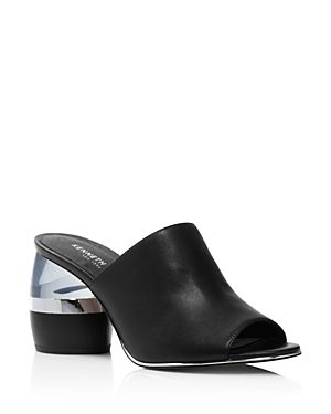 747683f9dbb KENNETH COLE WOMEN S LOUISE LEATHER   LUCITE HEEL MULES - 100% EXCLUSIVE.   kennethcole  shoes