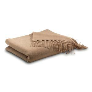 Camel Cashmere Throw Blanket